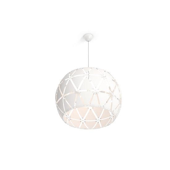 Suspension LED 'Dijon'Blanc 1 x E27