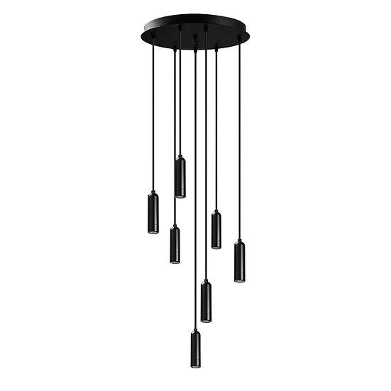 Suspension LED 'Guigny'Noir 1 x E27