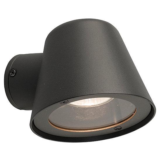 Applique Murale LED 'Agassac' Graphite 1 xGU10 IP44 Sans Ampoule