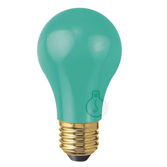 Ampoule LED E27 'Laversine' Plastique Vert - Blanc Chaud