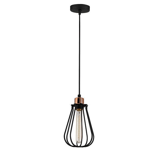 Suspension LED 'Cazaunous' Noir 1 x E27