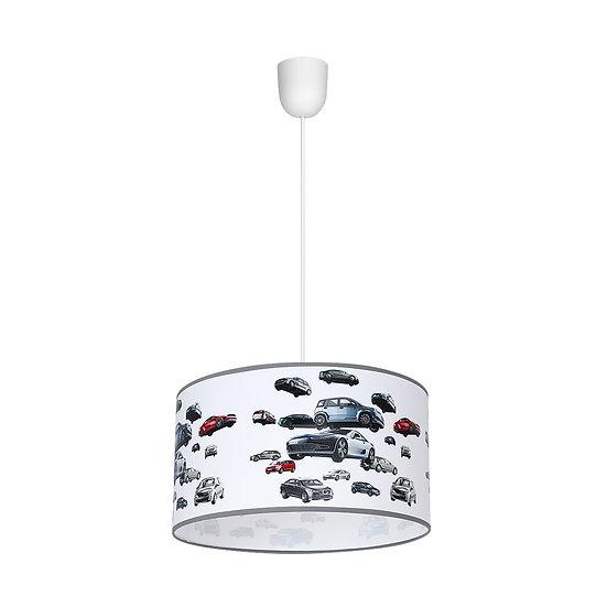 Suspension LED 'Compainville' 1 xE27 Métal + PVC Sans Ampoule
