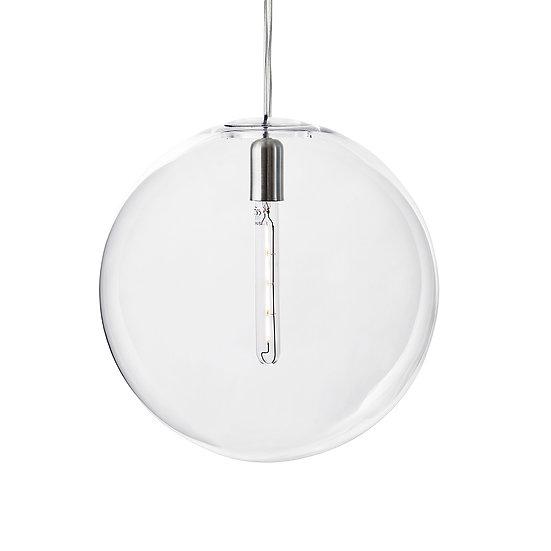 Suspension LED En Verre 'Sinceny' 400 mm Transparent 1 x E27 Avec Ampoule