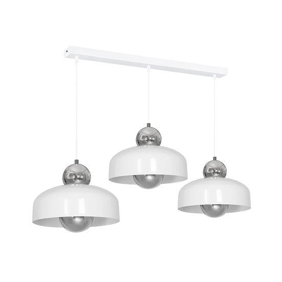Suspension LED 'Crouttes' 3 xE27 Métal Sans Ampoule