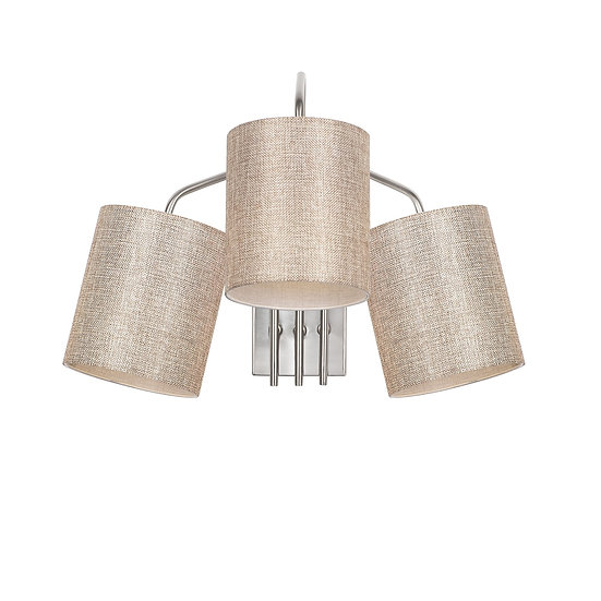 Applique Murale LED 'Hesdin 6021'Nickel/Cream 3 xE27