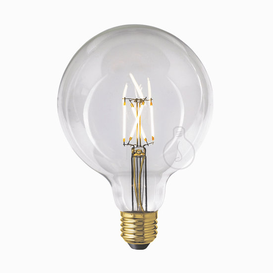 Ampoule LED E27 'Grugies' Transparent Blanc Chaud Dimmable