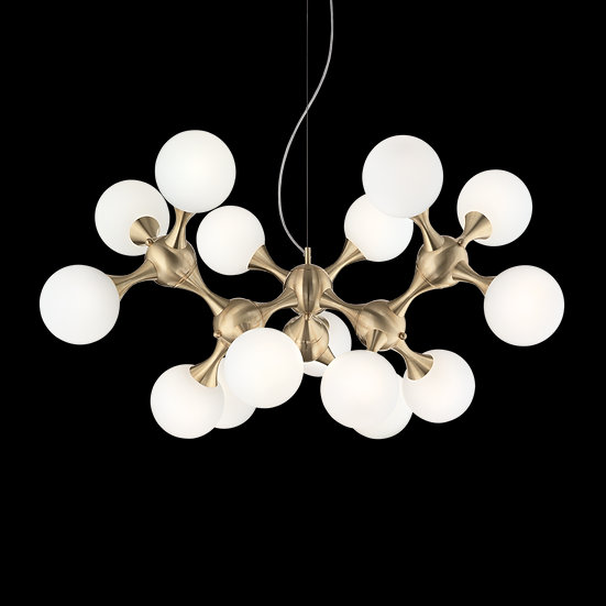 Suspension LED 'Drambon'Laiton 15x E14 Sans Ampoule