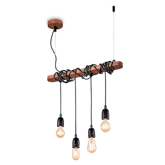 Suspension LED 'ELECTRIC' 4 xE27 Ampoules Non Fourni