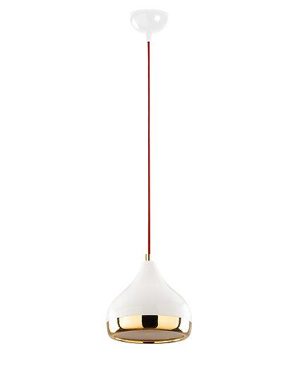 Suspension LED 'Haplincourt 67'Blanc/Rouge/Or 1 xE27