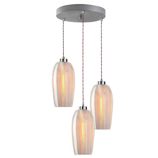 Suspension LED 'Gomer'Argent 3 x E27