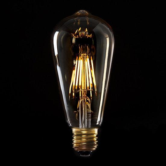 Ampoule Vintage LED St64 'Abzac' Edison 6W E27