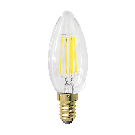Ampoule LED E14 'Iviers' Transparent - Blanc Chaud