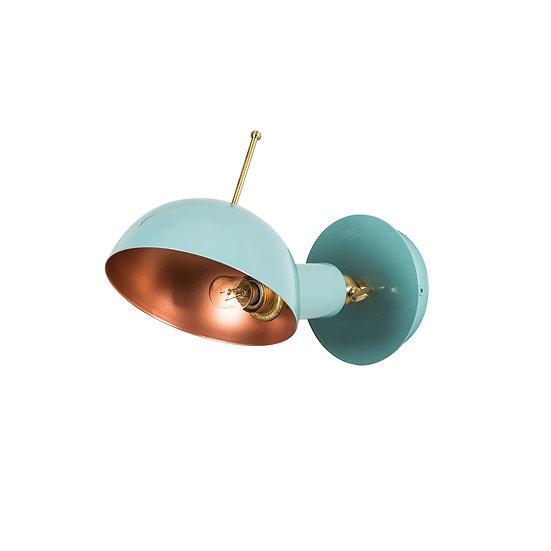 Applique Murale LED 'Alette 654'Turquoise/Cuivre 1 xE27