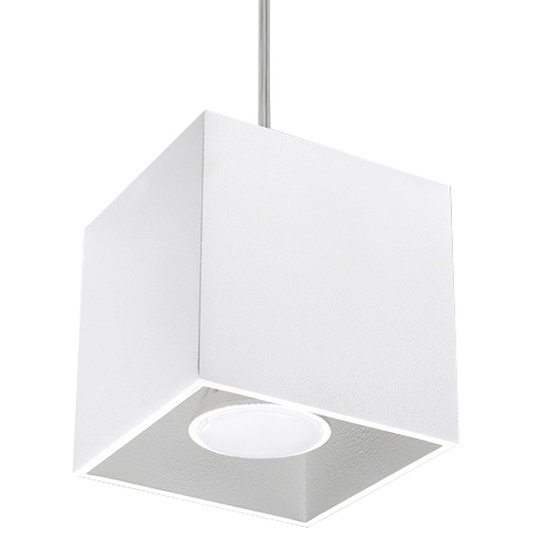 Suspension LED 'Cilly' Blanc IP20Câble AjusTable 1 xGU10 Sans Ampoule