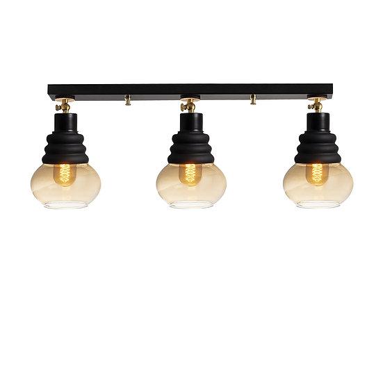 Suspension LED 'Gestas'Noir 3 x E27