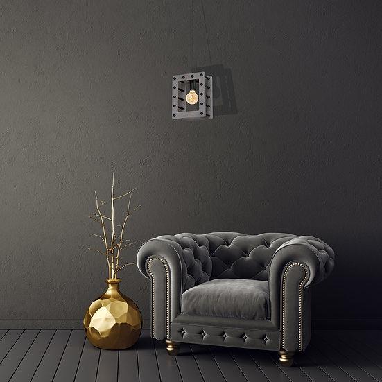Suspension LED 'Chanu' 1 xE27 Métal +Bois Sans Ampoule