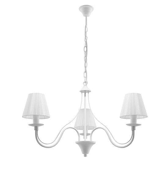 Suspension LED 'Couvrelles' Blanc IP20 3 xE14 Sans Ampoule
