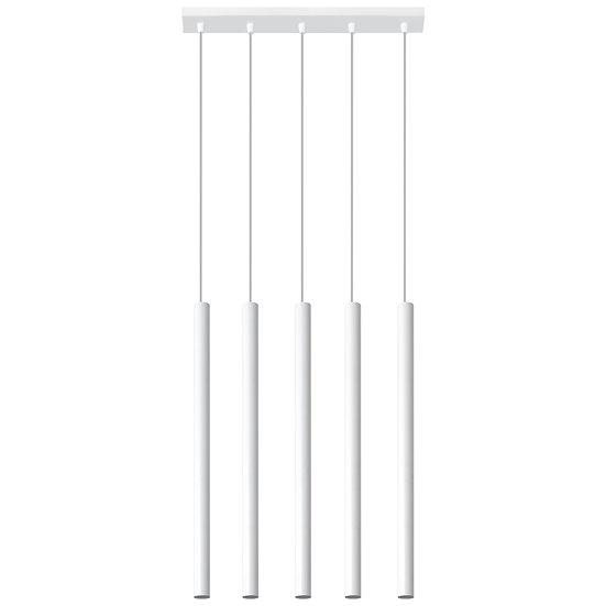Suspension LED 'Champs' Blanc IP20Câble AjusTable 5x G9 Sans Ampoule