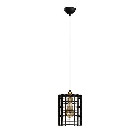 Suspension LED 'Cardeilhac'Noir 1 x E27