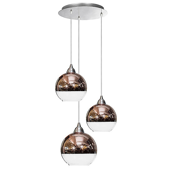 Suspension LED 'Guerny' Cuivre 3 xE27