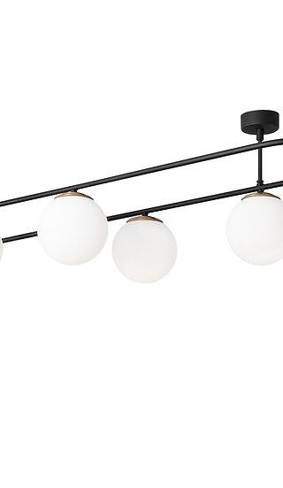 Suspension LED 'Dannes'Noir/Blanc Neutre 4 x E27