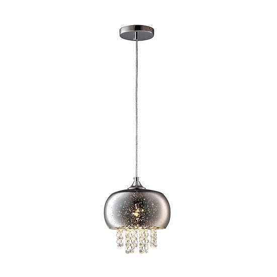 Suspension LED 'Forléans' 1 xE14 Métal +Verre Sans Ampoule