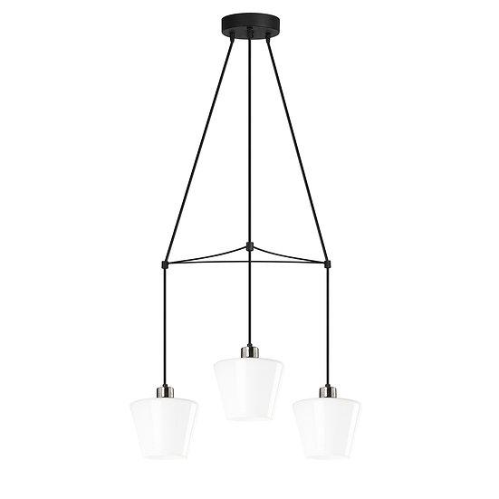 Suspension LED 'Guînes 6781'Noir/Blanc Neutre 3 xE27