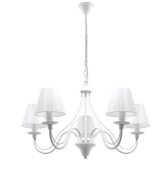 Suspension LED 'Couvrelles' Blanc IP20 5 xE14 Sans Ampoule
