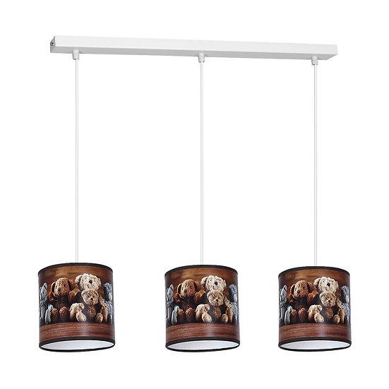 Suspension LED 'Cliponville' 3 xE27 Métal + PVC Sans Ampoule