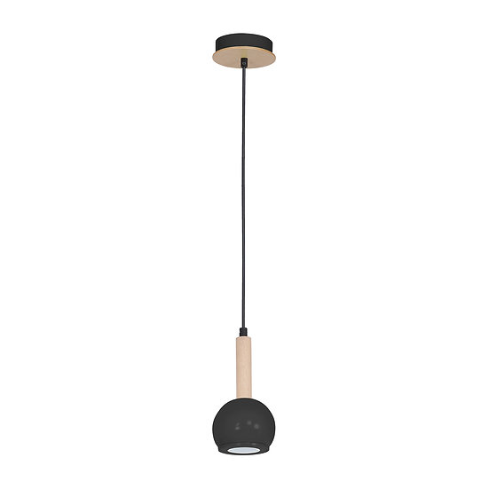 Suspension LED 'Cesson' 1 xGU10 Métal + Bois Sans Ampoule