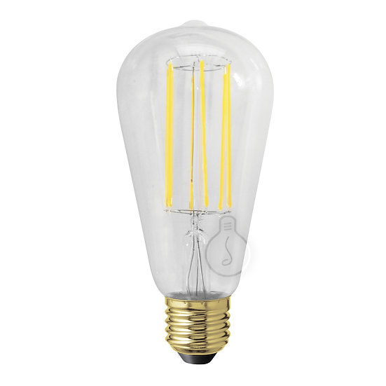 Ampoule LED E27 'Jaulgonne' Transparent - Blanc Chaud