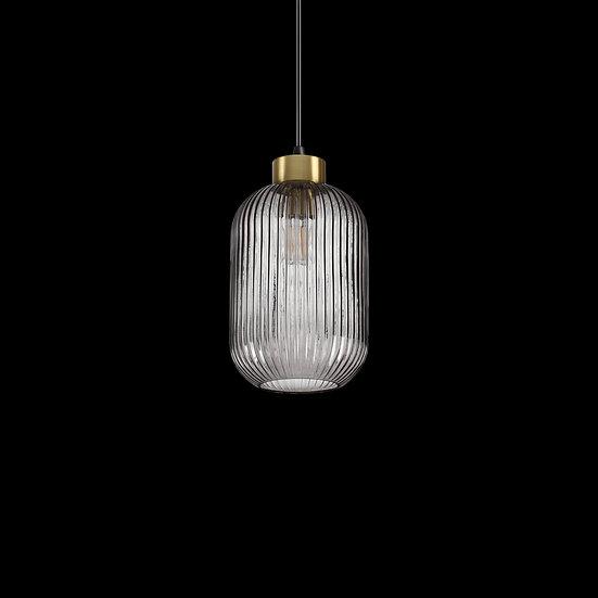Suspension LED 'Bourberain 02' Fumé 1 xE27
