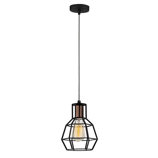 Suspension LED 'Caujac'Noir 1 x E27