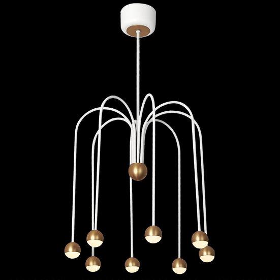 Suspension LED 'Fourquevaux'Blanc/Cuivre LED 24W 1950Lm 3000K
