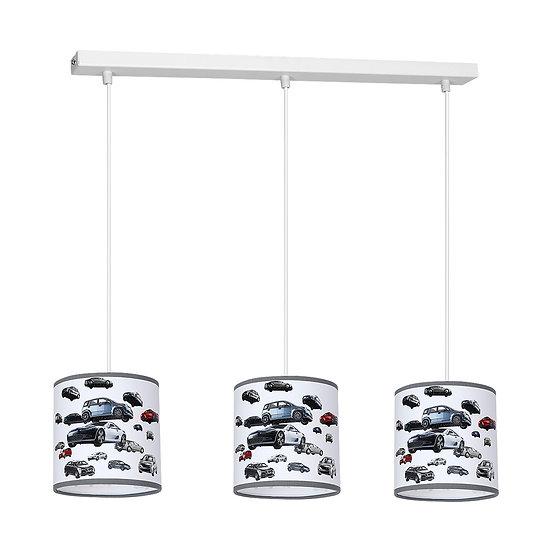 Suspension LED 'Compainville' 3 xE27 Métal + PVC Sans Ampoule