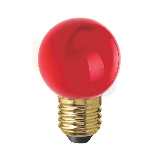 Ampoule LED E27 G45 'Jumencourt' Plastique Rouge - Blanc Chaud