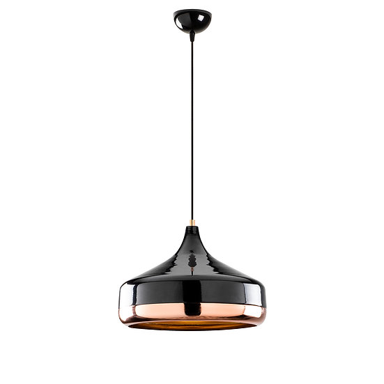 Suspension LED 'Haplincourt'Noir/Cuivre 1 x E27
