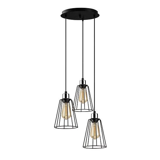 Suspension LED 'Hectomare'13 Noir 3 x E27