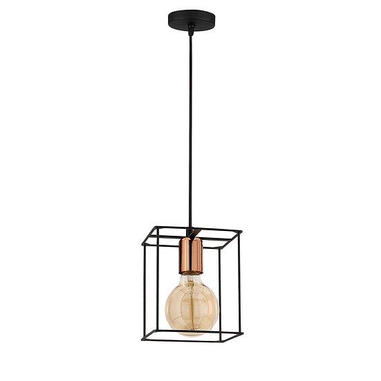 Suspension LED 'Caubous'Noir 1 x E27