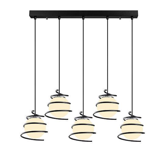 Suspension LED 'Cuqueron 04'Noir 5 x E27