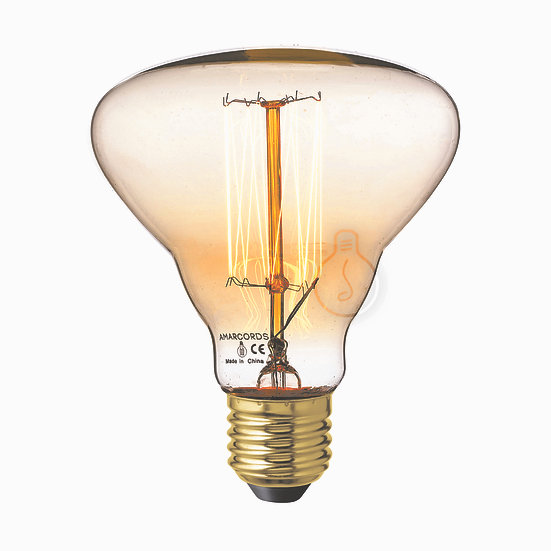 Ampoule E27 'Artemps' Filament Carbone ambre Dimmable Blanc Chaud