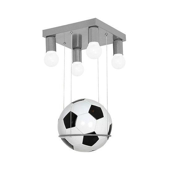 Suspension LED 'Esmans' 4 xE27 Métal + Plastique Sans Ampoule