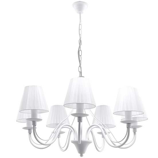 Suspension LED 'Couvrelles' Blanc IP20 7x E14 Sans Ampoule