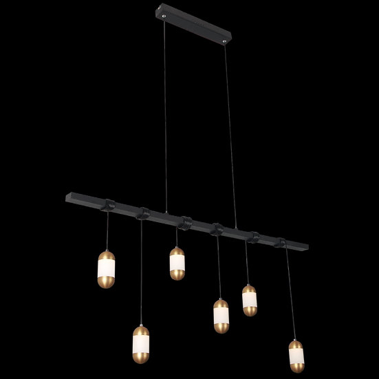 Suspension LED 'Figarol'Noir/Cuivre LED 24W 1960Lm 3000K
