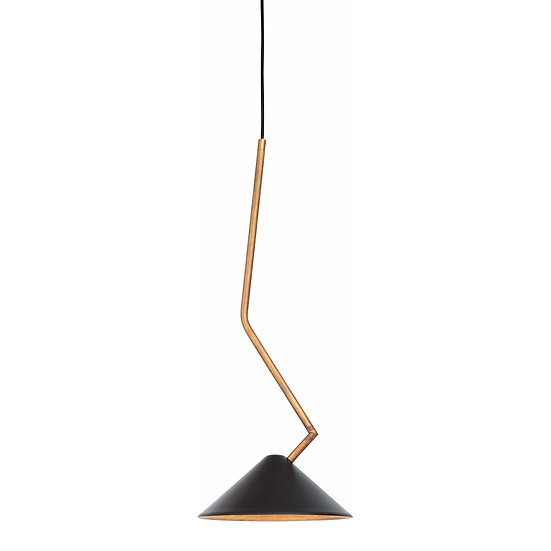 Suspension LED 'Galametz'Noir/Brass LED 5W Dimmable