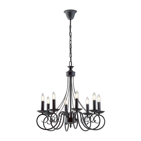 Suspension LED 'Fiennes' 8x E14 Sans Ampoule