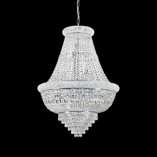 Suspension LED 'Fontangy' Chrome 24 xE14 Sans Ampoule