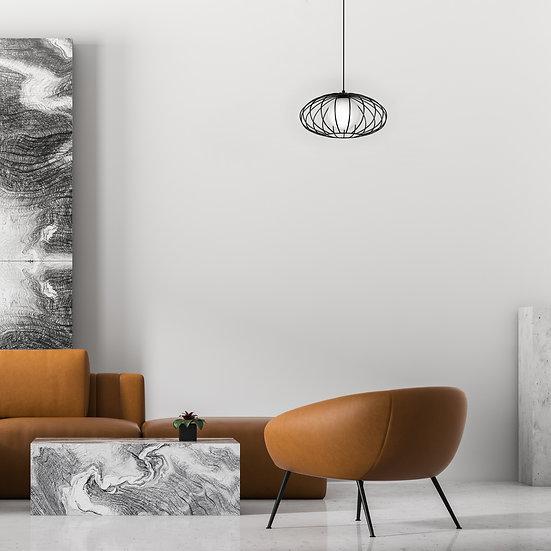 Suspension LED 'ForgeslesEaux' 1 xE27 Métal +Verre Sans Ampoule