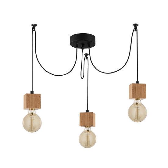Suspension LED 'Hasparren'Noir 3 x E27