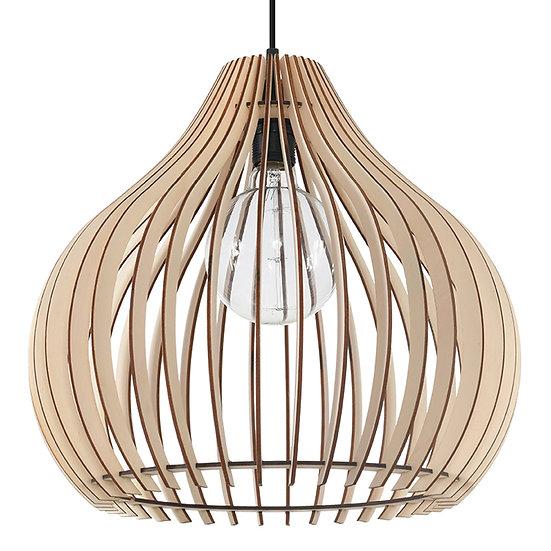 Suspension LED 'Dury'Bois/Noir IP20 1 xE27